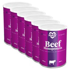 Konzerva MARTY Beef Monoprotein 6 x 400 g