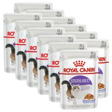 Royal Canin STERILISED in Jelly 12 x 85 g - želé v kapsičce