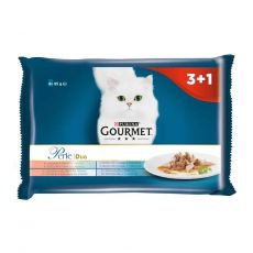 Kapsičky Gourmet Perle Duo rybí mix 4 x 85 g