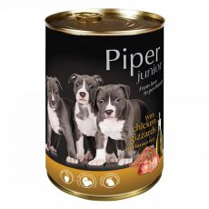 Konzerva Piper Junior kuřecí žaludky a hnědá rýže 400 g
