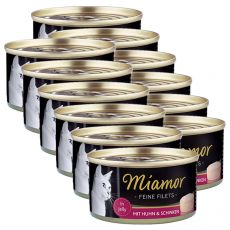Konzerva Miamor Filet kuře a šunka 12 x 100 g