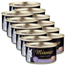 Konzerva Miamor Filet tuňák a kalmar 12 x 100 g