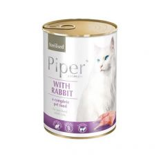 Konzerva Piper Cat Sterilised s králíkem 400 g