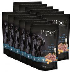 Kapsička Piper Adult s jehněčím, mrkví a hnědou rýží 12 x 500 g