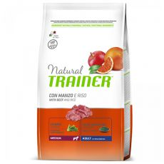 Trainer Natural Adult Medium, hovězí a rýže 3 kg