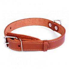 COLLAR kožený obojek pro psa hnědý 32–40 cm, 20 mm