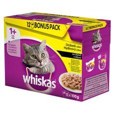 Whiskas kapsička drůbeží výběr ve šťávě 12 x 100 g