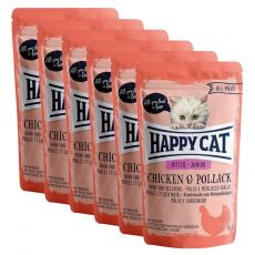 Kapsička Happy Cat ALL MEAT Kitten Junior Chicken & Pollack 6 x 85 g