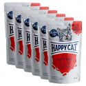 Kapsička Happy Cat MEAT IN SAUCE Adult Veal & Liver 6 x 85 g