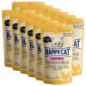 Kapsička Happy Cat ALL MEAT Kitten Junior Chicken & Duck 12 x 85 g