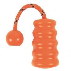 Gumová hračka pro psa - Fun Mot - oranžová - 9 cm