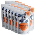 Kapsička Happy Cat MEAT IN SAUCE Adult Chicken & Turkey 12 x 85 g