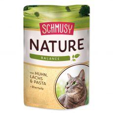 Schmusy Nature kapsička kuřecí a losos 100 g