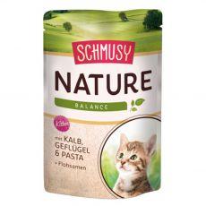 Schmusy Nature Kitten kapsička telecí a drůbež 100 g