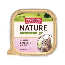 Schmusy Nature vanička krůta a králík 100 g