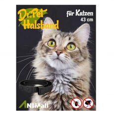 Dr.Pet antiparazitární obojek pro kočky ČERVENÝ 43 cm