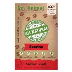 Dr.Animal 100 % zvěřina sušené maso 80 g