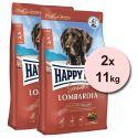 Happy Dog Supreme Sensible Lombardia 2 x 11 kg