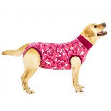 Pooperační oblečení pro psa XL kamufláž růžová