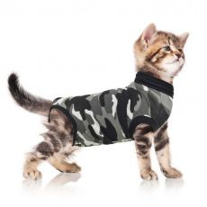 Pooperační oblečení pro kočku XS kamufláž
