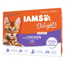 Iams Kitten Multibox kuřecí kapsičky 12 x 85 g