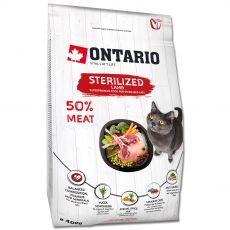 Ontario Cat Sterilised Lamb 400 g