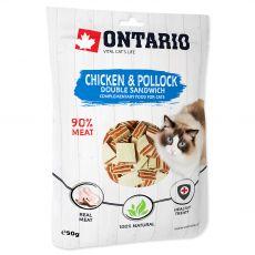 Ontario Cat chicken & pollock double sandwich 50 g