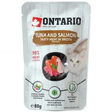 Ontario Cat tuna & salmon 80 g