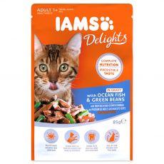 Iams Cat ocean fish & green beans 85 g