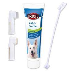 Dentální hygiena pro psa - zubní pasta + kartáčky