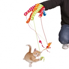 Hračka pro kočky - rukavice s myškami