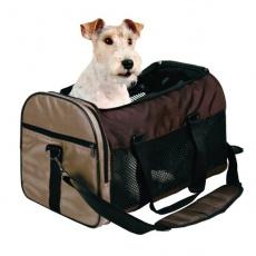 Taška na psy a kočky přepravní - hnědá, 31 x 32 x 52 cm