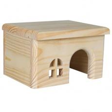 Domek pro hlodavce, rovná střecha - malý