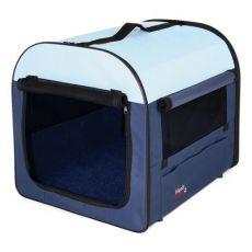 Transportní box pro psy - modrobéžový, 50 x 50 x 60 cm