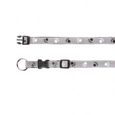 Obojek pro psa, reflexní - L -XL, 40 - 65 cm
