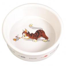 Miska pro kočku s motivem, keramická - 0,2 l