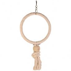 Hračka pro ptáky - kruh z lana, 19 cm