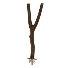 Bidlo pro ptáčka Natural living - dřevěné, tvar Y, 20 cm