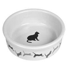Keramická miska pro kočku s motivem - 250 ml
