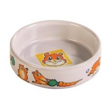 Miska pro křečka keramická, s obrázky - 100 ml