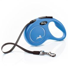 Flexi vodítko New Classic S do 15 kg, 5m popruh – modré