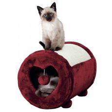 Drápadlo pro kočku, bordové srdce