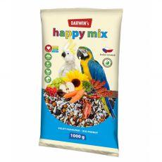 Darwin's Happy Mix krmivo pro velké papoušky 1 kg
