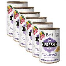 Konzerva Brit Fresh Veal with Millet 6 x 400 g