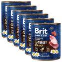 Konzerva Brit premium by Nature Turkey & Liver 6 x 800 g