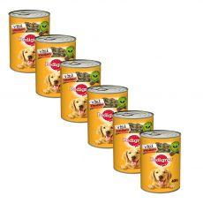 Pedigree konzerva s hovězím v želé 6 x 400 g