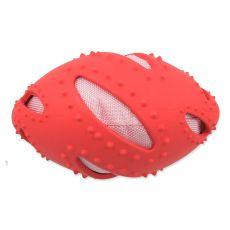 Dog Fantasy TPR Rugby míč červený 16 cm