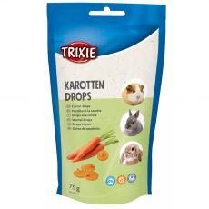Dropsy pro hlodavce vitaminové - mrkvové, 75 g