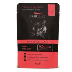 Fitmin Cat For Life Beef kapsička 85 g