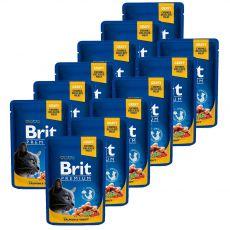 Kapsička BRIT Premium Cat Salmon & Trout 12 x 100 g